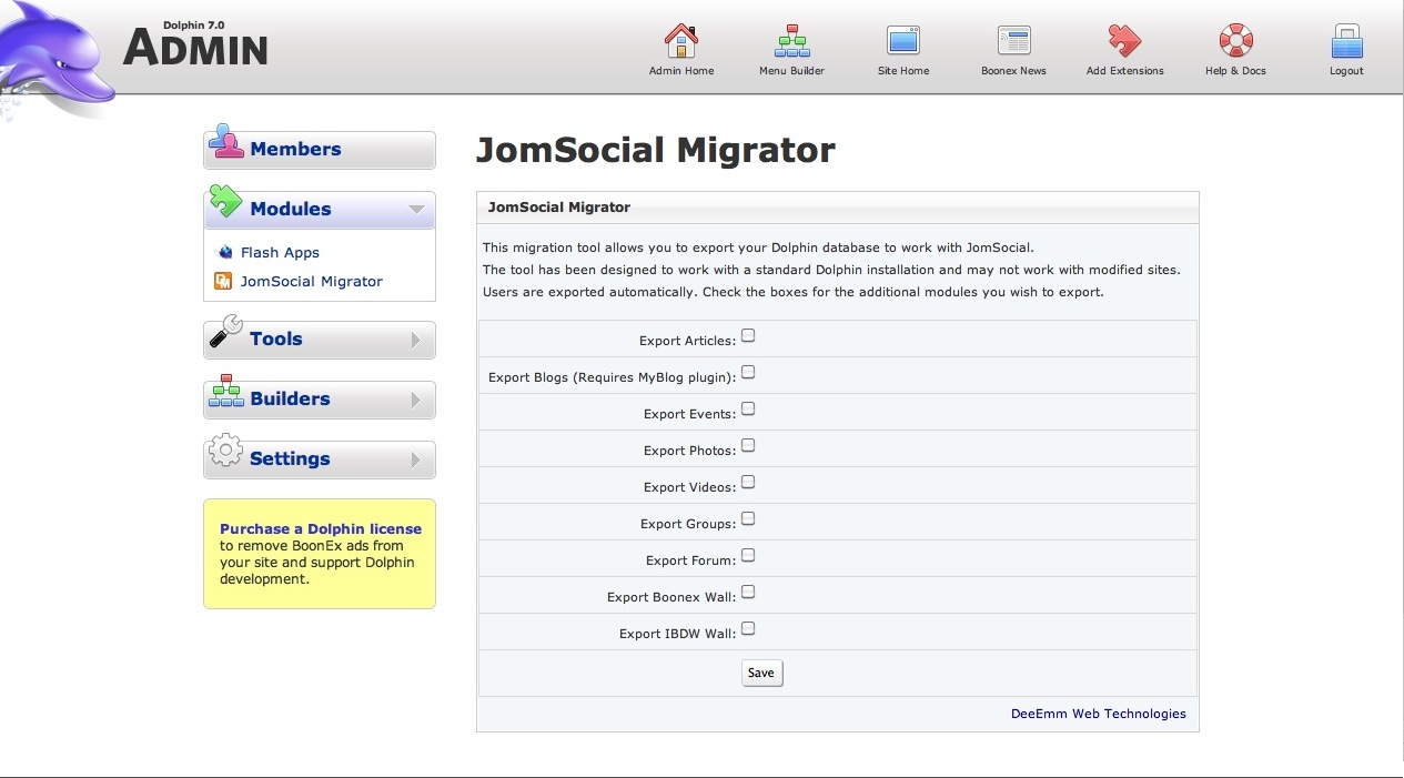 Sneak Peek at Dolphin to JomSocial migration script